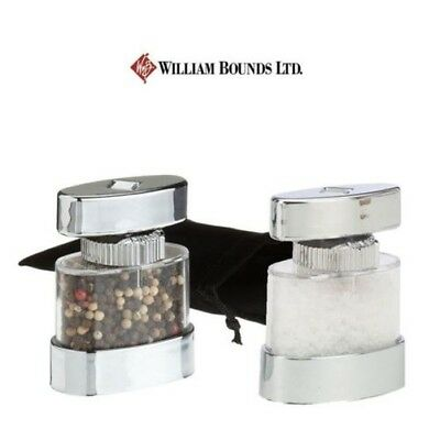 William Bounds Traveller Salt Pepper Mills with Pouches - Individual or Set