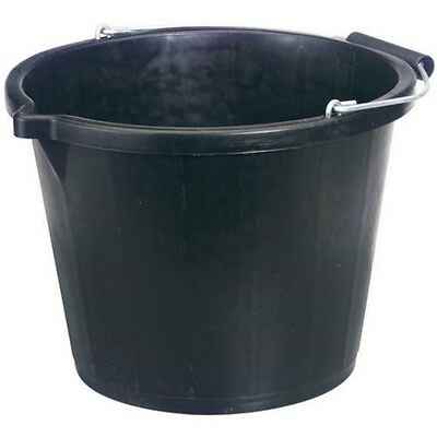 Draper Contractors Plastic Bucket - 31687 Black 148l