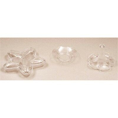 Club Green Plastic Round Almond Dish - 50 Pack - Clear