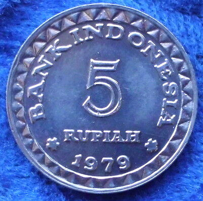 """INDONESIA - 5 rupiah 1979 """"family planning program"""" KM# 43 - Edelweiss Coins"""