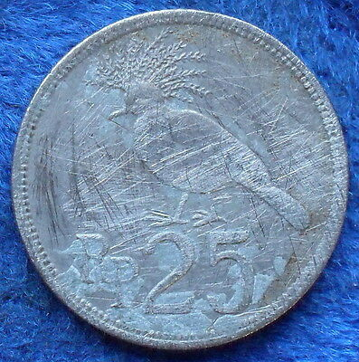 """INDONESIA - 25 rupiah 1971 """"Victoria crowned pigeon"""" KM# 34 - Edelweiss Coins"""