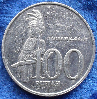 """INDONESIA - 100 rupiah """"Palm Cockatoo"""" 2001 KM# 61 - Edelweiss Coins"""