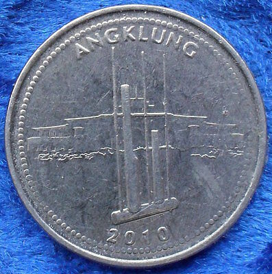 """INDONESIA - 1000 rupiah 2010 """"angklung"""" KM# 70 - Edelweiss Coins"""