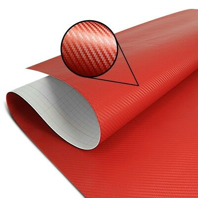 Motorcycle vinyl wrapping bubble free high premium 3D carbon optic Motea red