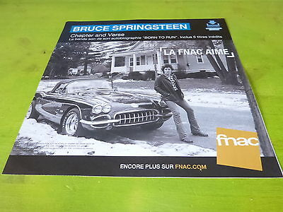 Bruce Springsteen - Chapter!!!plv 30X30 Cm !!french Record Store Promo Advert