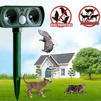 Ultrasonic Solar Power Pest Animal Repeller Repellent Garden Cat Dog Mouse
