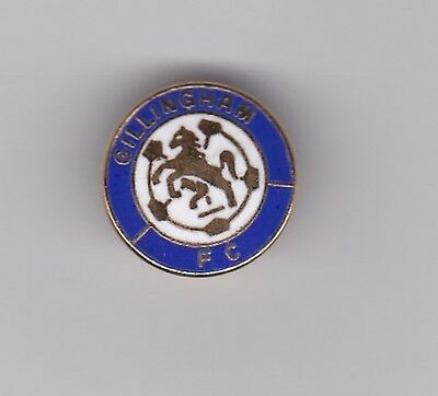 Gillingham - mainly white lapel badge
