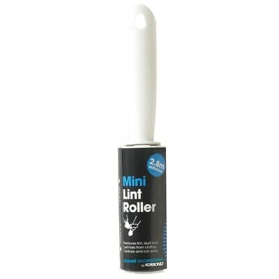 Mini Lint Hair Removing Roller - Korbond Travel Accessories 28m 117003 White