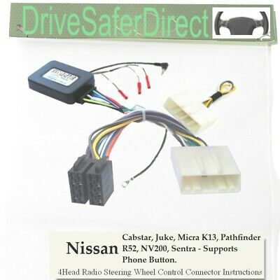 ANAlogz-SWC-5235-02 Stalk Adaptor for Android ISO Radio/Nissan Micra K13 10-16