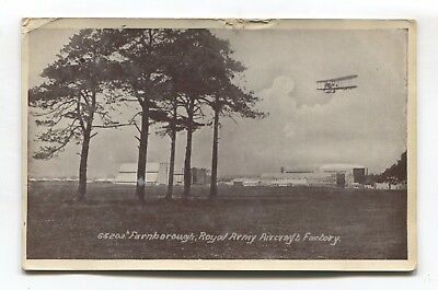 Farnborough, Hampshire - Royal Army Aircraft Factory - First World War postcard