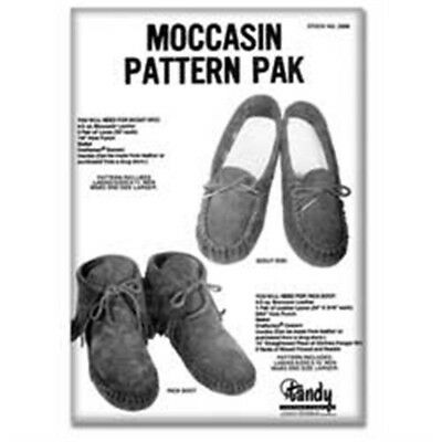Leather Moccasin Pattern Pack - Shoe Making Designs Leathercraft Tandy 62668-00