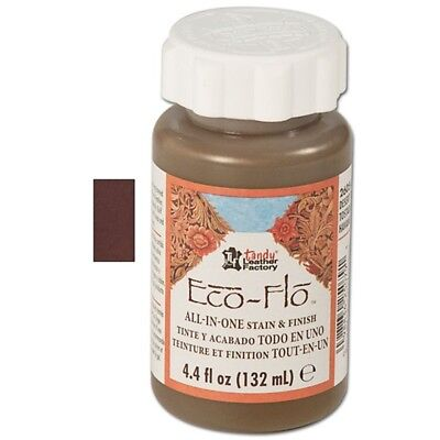 4oz Fudge Brown Eco Leather Stain & Finish - -flo All-in-one & 4 Oz Colour