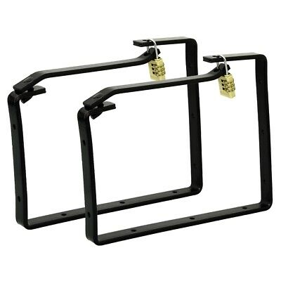 2 Piece Ladder Wall Brackets - Storage Hooks Lockable Rolson x Ga 60910 Pieces