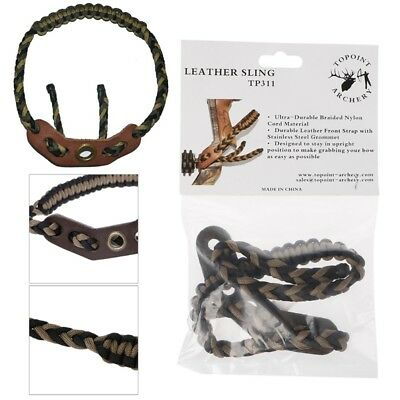 Archery Compound Bow Wrist Sling Straps Braided Nylon Cord for Hunting Shooting