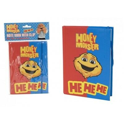 Honey Monster Hard Back Note Book - New Hard Note Clip Free Pp