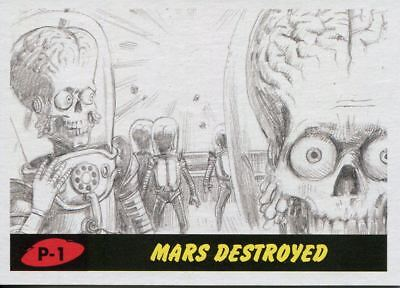 Mars Attacks The Revenge 2017 Complete 55 Card Pencil Art Variant Base Set