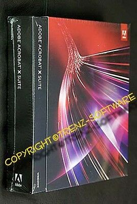Adobe Acrobat X Suite + Photoshop CS5 englisch Vollversion Box DVD - incl. MwSt.