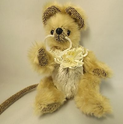 Vintage Ty Attic Treasures Jointed Minerva Mouse  Collectable Rare Soft Toy24H