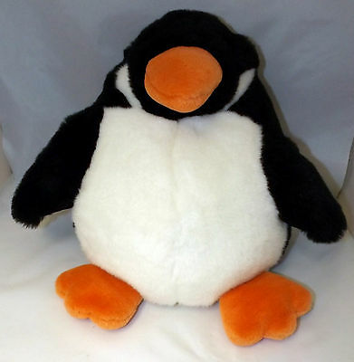 Large Round Penguin - Child's Winter Christmas Soft Toy Comforter 29X