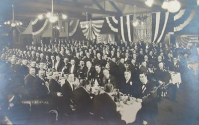 Vintage BPOE ELKS LODGE Malden MA 1912 Dinner Meeting Darley Studio Photograph