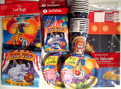 BIG TOP CIRCUS - Birthday Party Supplies Set Pack DELUXE Kit !!