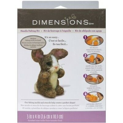 Dimensions Needle Felt Kit - Bunny - Felting Felted Multicolour