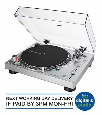 Audio-Technica AT-LP120X USB Professional DJ USB Record Player Turntable Silver