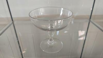Edwardian Lead Crystal Champagne Saucer/ Sweetmeat Glass C 1900+