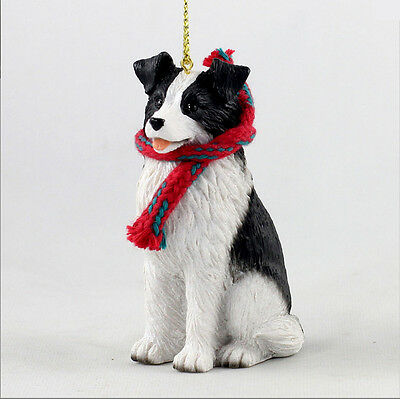 Border Collie Christmas Scarf Ornament