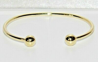 NEW 9ct Gold Baby Torque Bangle - UK Hallmarked - 1.9 grams