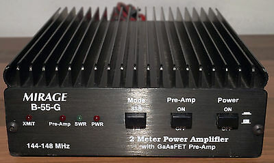 Mirage / MFJ b-55-g 50W 2m VHF linear Amplifier with receive preamp.