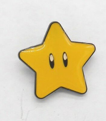 Super Mario Bros. Yellow Star Pin Badge
