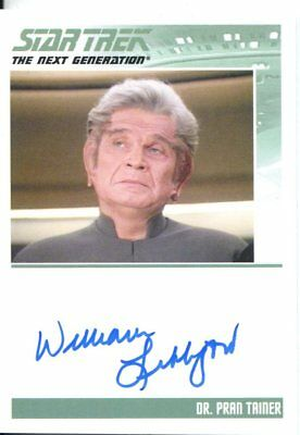 Star Trek The Complete Next Generation Series 2 Autograph William Lithgow
