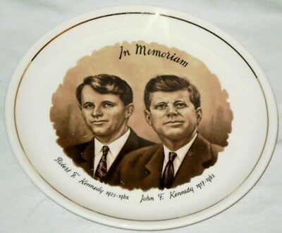 VINTAGE John and Bobby Kennedy In Memoriam Plate