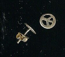 from Nepal Peace symbol stud earings .925 silver new !!