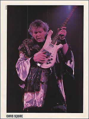 Yes Chris Squire 1986 onstage Rickenbacker Bass guitar 8 x 11 pinup photo