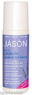 Jason Organic Calming LAVENDER Pure Natural Roll On DEODORANT 89ml