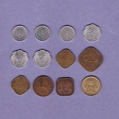 Ceylon, India & Maldive Islands - Coin Collection Lot - World/Foreign/Asia