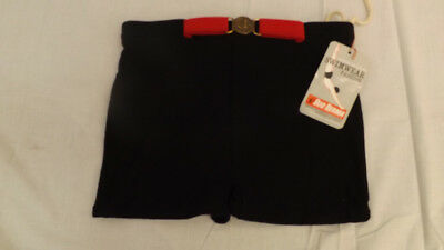 Vtg 60s NOS BUD BERMA Swim Suit Sz M Mod Belt Buckle Front Surf Shorts/Trunks