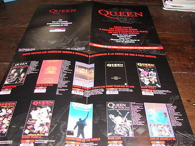 Queen Video Discography!!!!!!!!!!!rare French Press/kit