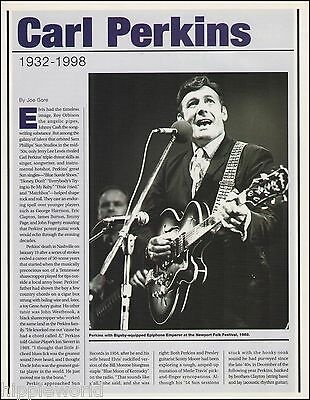 Mr. Carl Perkins 1932-1998 tribute article Epiphone Emperor guitar 8 x 11 pin-up