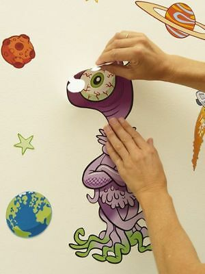 Fun To See Alien Themed Room Giant Stickers Removable 39 Pieces Kids