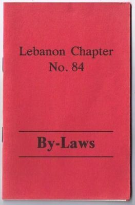 Masonic Lodge Lebanon Ontario Chapter No 84 By-Laws 1986