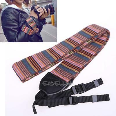 Camera Strap Camera Neck Strap for SLR DSLR Color Blocking  E0Xc