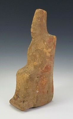 Ancient Greek Terracotta Figure Statue Of A Seated Woman- Rhodes 5Th Century