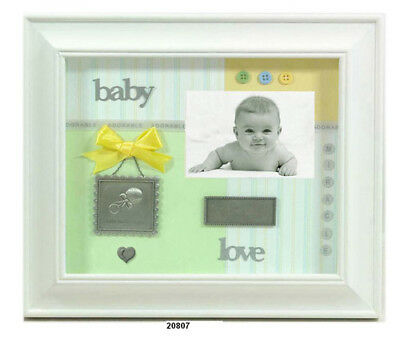 Shadow Box Baby White Wood Picture Frame - Leeber L20807