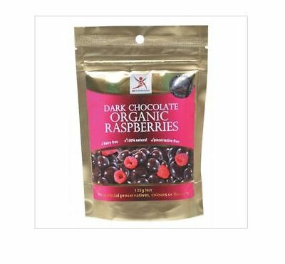 3 x 125g DR SUPERFOODS Dark Chocolate Organic Raspberries