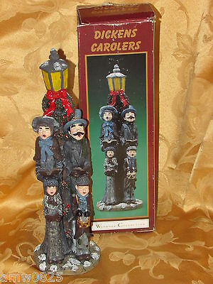 "Dickens Carolers Windsor Collection 12 1/2"" Christmas Decor Figurine World Bazar"