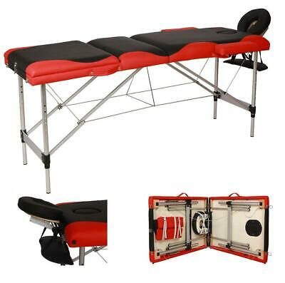 "Portable 84""L 3 Fold Massage Table w/ Facial SPA Bed Tattoo W/ Carry Case"