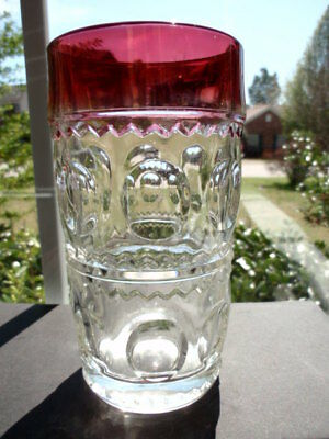 """Indiana King's Crown Ruby 5 1/2"""" Highball Glass"""